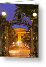Twilight At Arc De Triomphe Greeting Card
