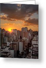 Twilight In Sao Paulo Greeting Card
