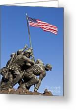 Us Marine Corps Memorial Greeting Card