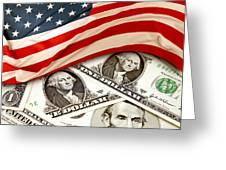 Usa Finance Greeting Card