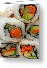 Vegetable Sushi Greeting Card