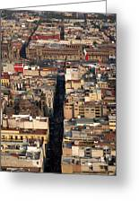 View From Torre Latinoamerican Greeting Card