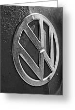 Volkswagen Vw Bus Front Emblem Greeting Card