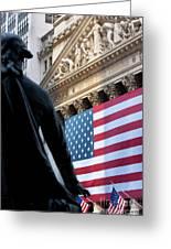 Wall Street Flag Greeting Card