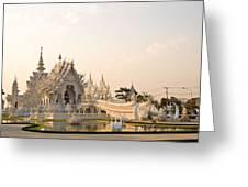 Wat Rong Khun In Chiang Rai Thailand  Greeting Card