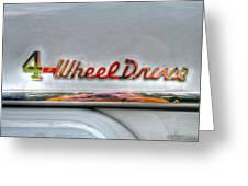 4 Wheel Drive Greeting Card