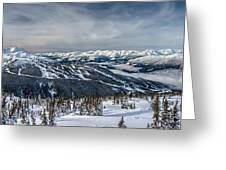 Whistler Mountain Peak View From Blackcomb Greeting Card