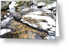 White Oak Run In Winter Greeting Card