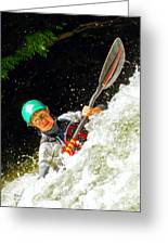 Whitewater Kayak Greeting Card