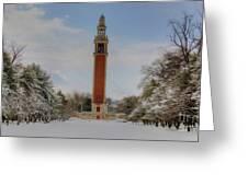 Winter At The Carillon Greeting Card