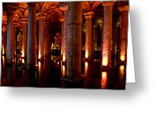 Yerebatan Sarayi Cistern Istanbul  Turkey    Greeting Card