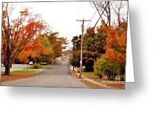 Fall Foliage In New England Greeting Card