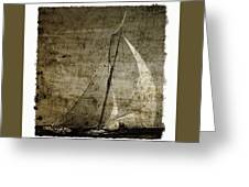 40 Sailboat - With Open Wings In A Grunge Background  Greeting Card
