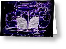41 Lincoln In Neon Greeting Card