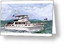 42 Foot Grand Banks Motoryacht Greeting Card