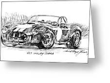 427 Shelby Cobra Greeting Card by David Lloyd Glover