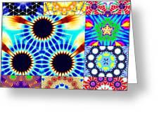 432hz Cymatics Grid Greeting Card