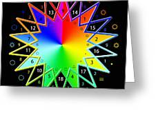 432hz Rainbow Star Greeting Card