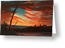 Our Banner On The Sky Greeting Card