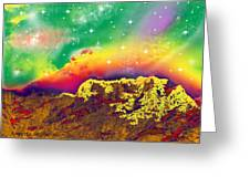 Space Landscape Greeting Card