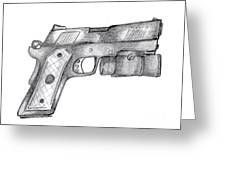 45 Acp Greeting Card