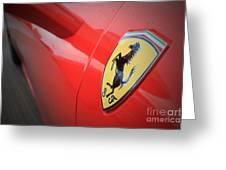 458 Red Greeting Card