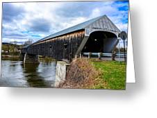 460 Foot Long New Hampshire Covered Bridge Greeting Card