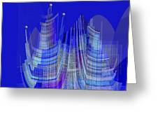 461 - City Of Future 2 .... Greeting Card