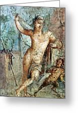 Naples Archeological Museum Roman Art Greeting Card