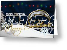San Diego Chargers Greeting Card