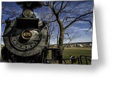 #475 Steam Engine On The Strasburg Rr 04 Greeting Card