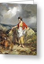 Girl With A Pitcher Greeting Card