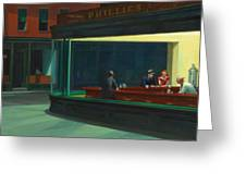 Nighthawks Greeting Card