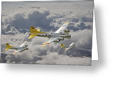 487th Bomb Group Greeting Card