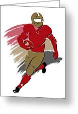 49ers Shadow Player2 Greeting Card