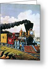 4gcr235american Express Train, 1864 Greeting Card