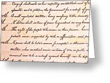 4th Amendment  Greeting Card by Jim Pruitt