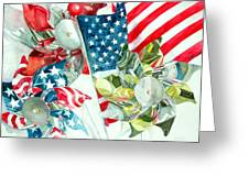 4th Of July Greeting Card by Elizabeth  McRorie