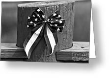 4th Of July Mono Greeting Card by John Rizzuto