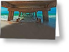 4x1 Under Fishing Pier Greeting Card