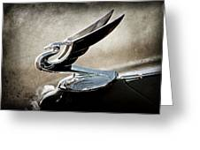 1935 Chevrolet Hood Ornament Greeting Card