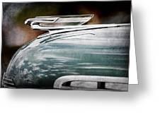 1940 Chevrolet Hood Ornament Greeting Card
