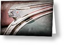 1948 Pontiac Chief Hood Ornament Greeting Card