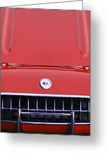 1957 Chevrolet Corvette Grille Greeting Card