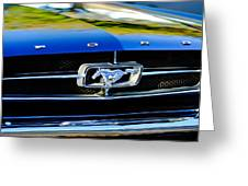 1965 Shelby Prototype Ford Mustang Grille Emblem Greeting Card