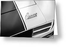 1969 Chevrolet Camaro Rs-ss Indy Pace Car Replica Hood Emblem Greeting Card by Jill Reger