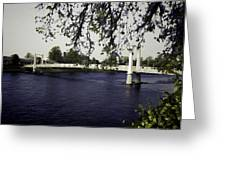 A Wonderful Suspension Bridge Over The River Ness In Inverness Greeting Card