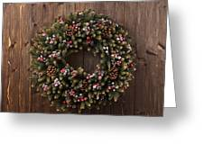 Advent Christmas Wreath Decoration Greeting Card