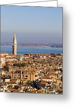 Aerial View Of Venice Greeting Card
