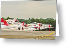 Airplanes At The Airshow Greeting Card